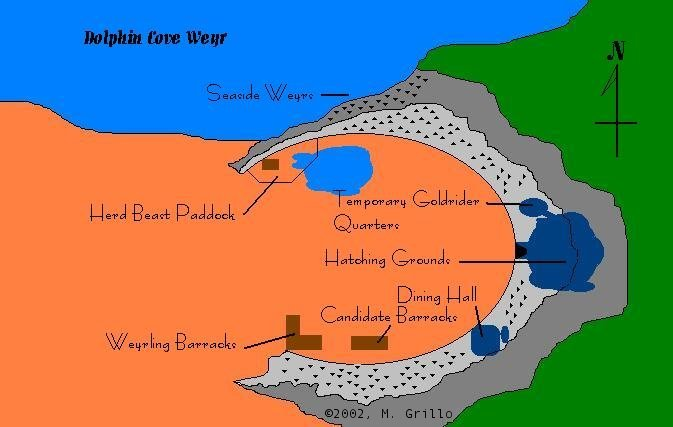 Dolphin Cove Weyr - Overview Map